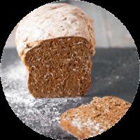 pão de forma cinco sementes cortado a meio