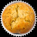 Muffin Limão e Papoila