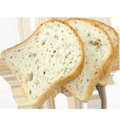 3 fatias de pão de forma sementes EYRA
